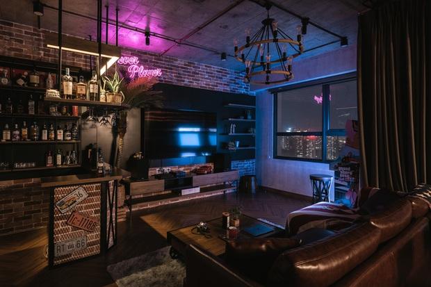 Chàng trai bỏ 800 triệu thiết kế căn hộ đậm chất dân chơi, đầu tư cả quầy bar để chill tại nhà mùa dịch - Ảnh 6.