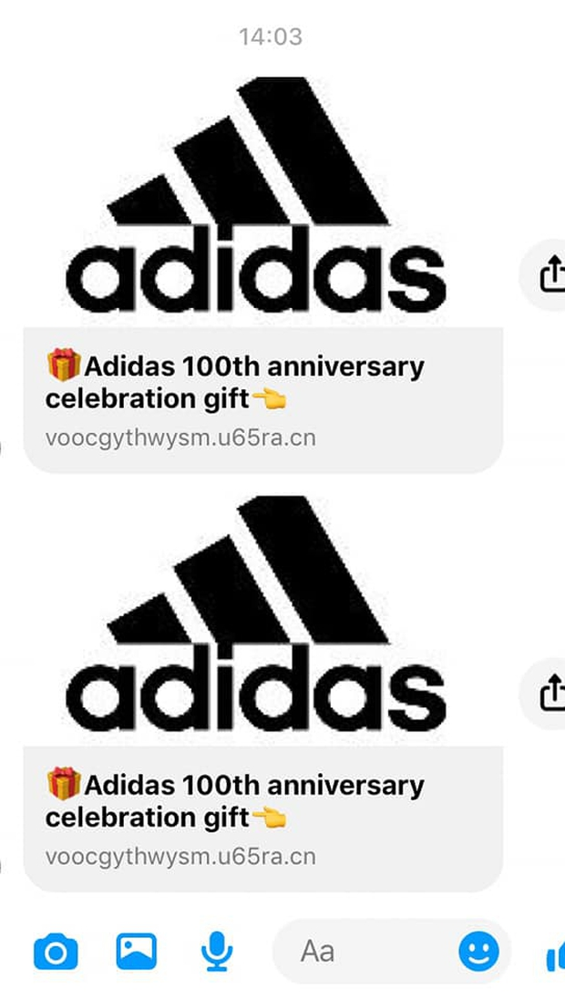 Cảnh báo: Xuất hiện đường link giả mạo Adidas để lừa đảo trên Facebook, nhiều người sập bẫy chỉ vì phần quà rất giá trị - Ảnh 1.