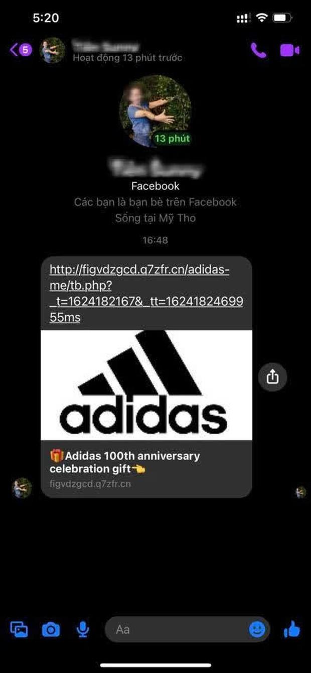 Cảnh báo: Xuất hiện đường link giả mạo Adidas để lừa đảo trên Facebook, nhiều người sập bẫy chỉ vì phần quà rất giá trị - Ảnh 3.