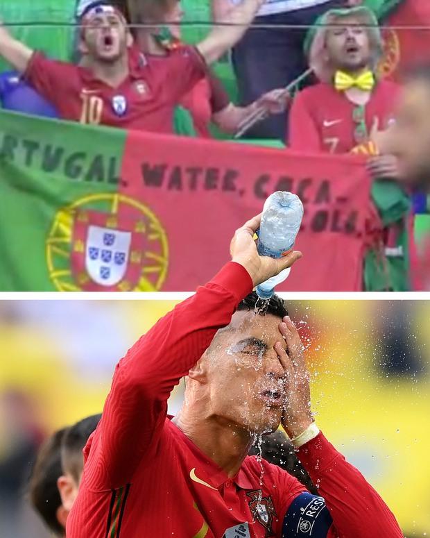 Thất vọng vì thua Đức tan nát, Ronaldo bèn cởi trần khiến dân tình náo loạn: 6 múi sầu riêng đều tăm tắp nhờ nói không với Coca - Ảnh 7.