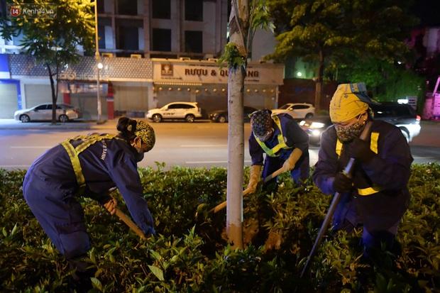 Ảnh: Di dời hàng cây phong lá đỏ trên 2 tuyến phố Hà Nội ngay trong đêm - Ảnh 11.