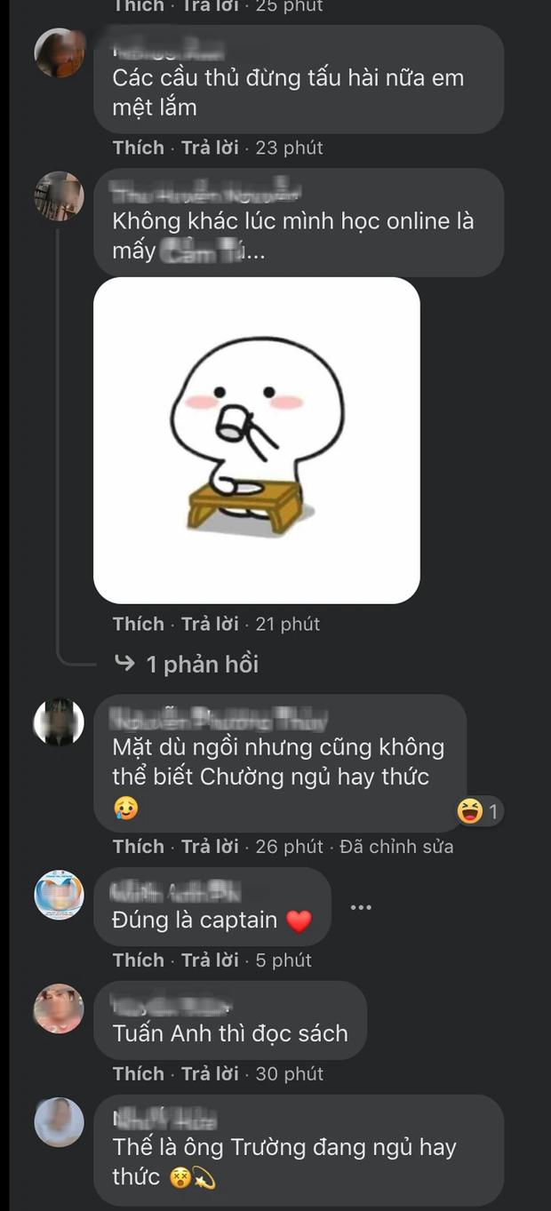 Cộng đồng mạng dậy sóng với hình ảnh Xuân Trường, Văn Toàn vừa họp online vừa tấu hài - Ảnh 5.