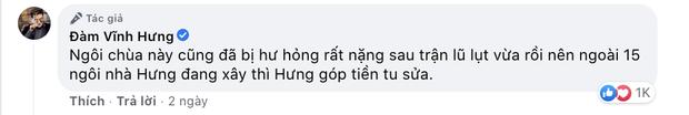 Đàm Vĩnh Hưng chính thức lên tiếng khi bị chỉ trích gay gắt vì dùng tiền cứu trợ miền Trung để đi sửa chùa ở Nghệ An - Ảnh 3.