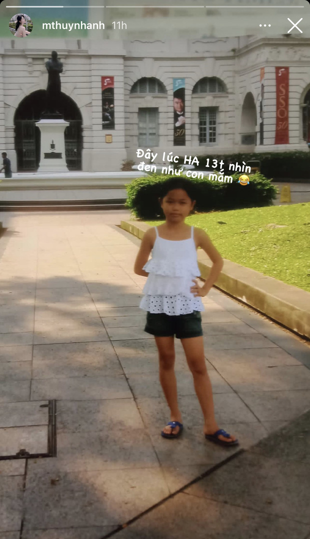 Bồ cũ Quang Hải khoe ảnh hồi bé đen nhẻm, gầy như con mắm trong khi hiện tại trắng như phát sáng - Ảnh 2.