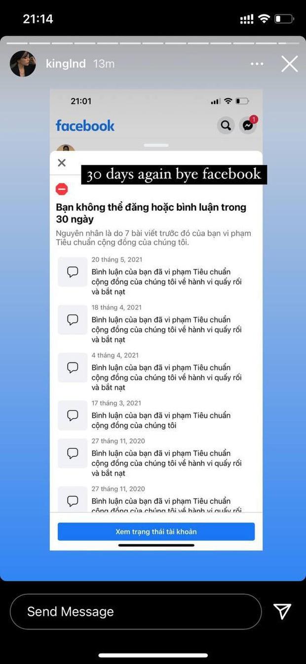 Liên tiếp bị report khiến tài khoản Facebook hàng triệu followers bị khóa, Linh Ngọc Đàm tuyên bố nghỉ chơi - Ảnh 2.