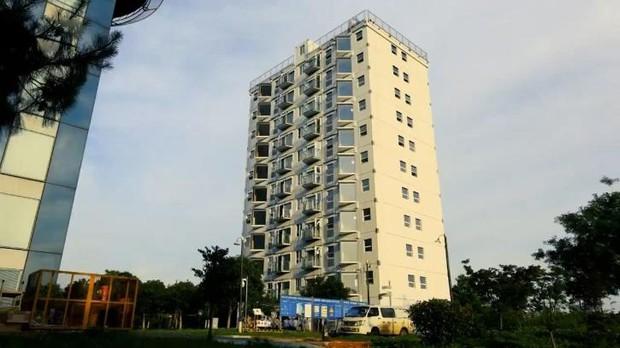 Công ty Trung Quốc xây khu chung cư 10 tầng chỉ trong 28 giờ - Ảnh 1.