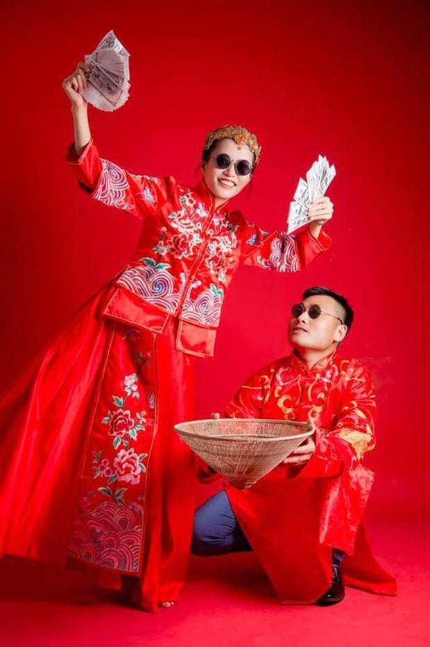 Màn rước dâu bằng xe máy có 1-0-2 ở Nghệ An giữa mùa dịch - Ảnh 3.