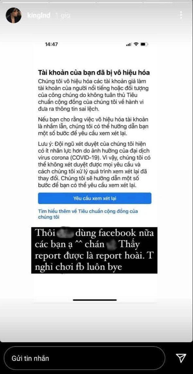 Liên tiếp bị report khiến tài khoản Facebook hàng triệu followers bị khóa, Linh Ngọc Đàm tuyên bố nghỉ chơi - Ảnh 4.