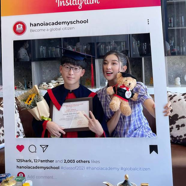 Em trai Á hậu Huyền My học trường quốc tế học phí khủng, vừa tốt nghiệp cấp 3 soi ra thành tích đáng nể - Ảnh 2.