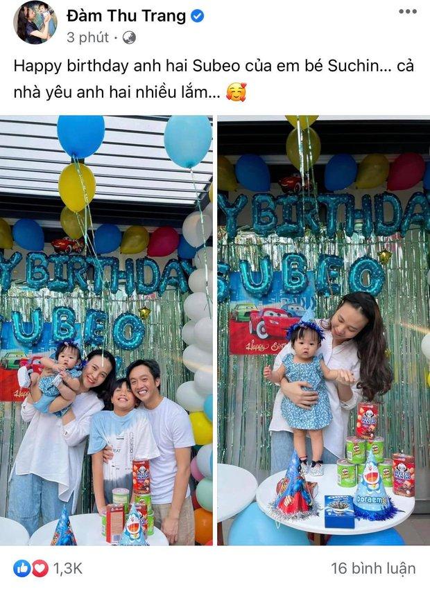 Vợ chồng Cường Đô La tổ chức sinh nhật cho Subeo tại villa sang chảnh, nụ cười hạnh phúc của cả gia đình thấy mà ngưỡng mộ - Ảnh 6.