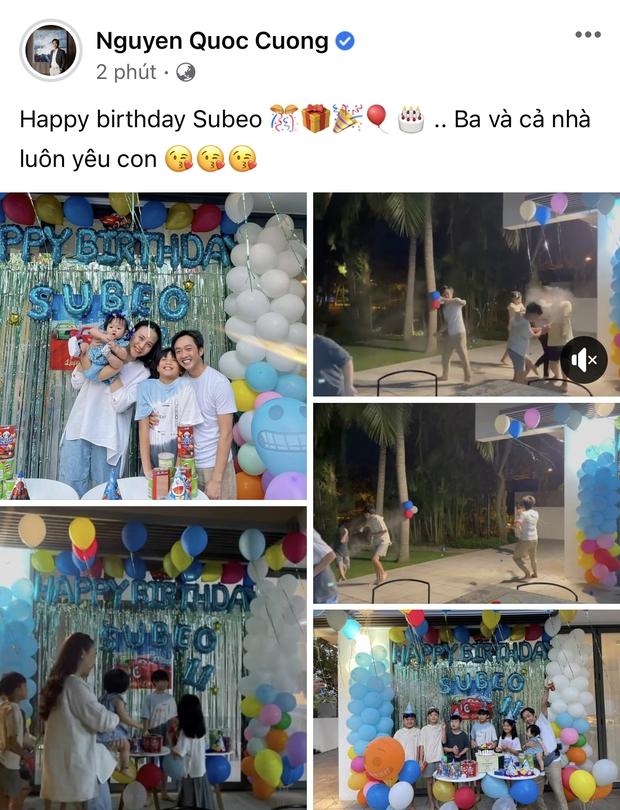 Vợ chồng Cường Đô La tổ chức sinh nhật cho Subeo tại villa sang chảnh, nụ cười hạnh phúc của cả gia đình thấy mà ngưỡng mộ - Ảnh 5.