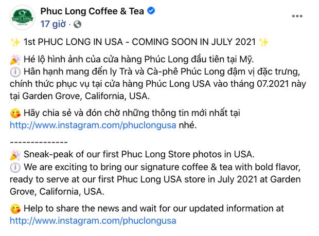 Tiếp nối Cộng, Phúc Long mở cửa hàng đầu tiên ở nước ngoài với thiết kế đậm chất Việt Nam, fan rục rịch hẹn ngày được check-in - Ảnh 1.