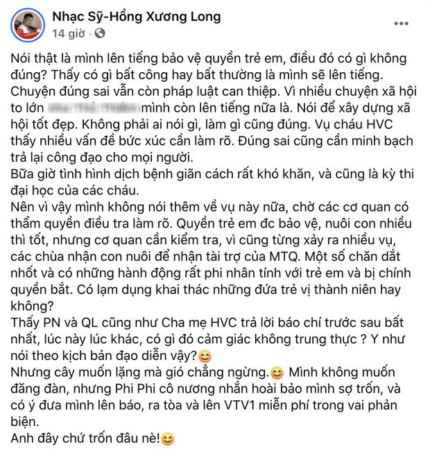 Phía Phi Nhung chính thức lên tiếng sau khi bị nhạc sĩ Chim Trắng Mồ Côi đăng đàn tố uy hiếp và đe doạ - Ảnh 4.
