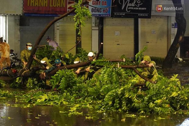 Hàng loạt cây xanh gãy đổ khắp đường phố Hà Nội sau cơn mưa giông tầm tã - Ảnh 1.