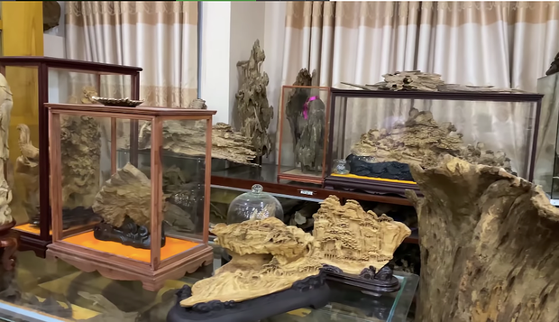 Giữa ồn ào, NS Hoài Linh bị soi lại BST trầm hương trăm tỷ ở phòng riêng, đặc biệt có cả loại gỗ quý hiếm nhất Việt Nam - Ảnh 2.