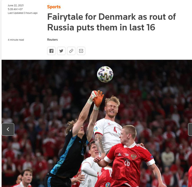 Báo chí thế giới ngã mũ thán phục trước màn thoát hiểm thần kỳ của Đan Mạch ở Euro 2020 - Ảnh 5.