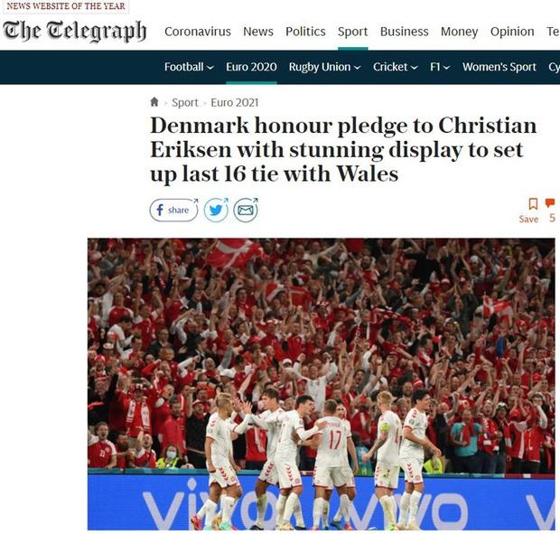 Báo chí thế giới ngã mũ thán phục trước màn thoát hiểm thần kỳ của Đan Mạch ở Euro 2020 - Ảnh 8.