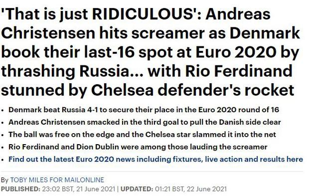 Báo chí thế giới ngã mũ thán phục trước màn thoát hiểm thần kỳ của Đan Mạch ở Euro 2020 - Ảnh 9.