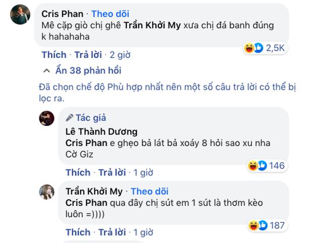 Cris Phan cà khịa Khởi My chiếm luôn spotlight bài đăng Ngô Kiến Huy, pha phản dame của khổ chủ gây chú ý - Ảnh 2.