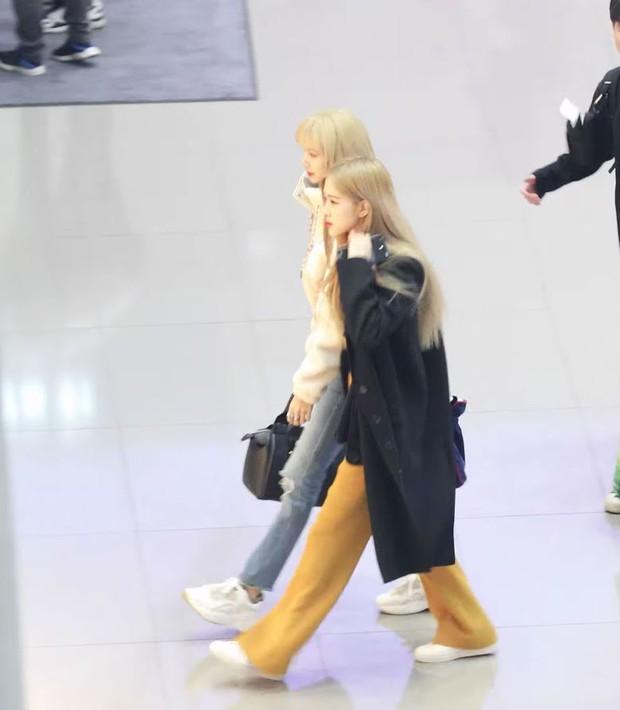 Combo toàn chân phái đỉnh nhất Kpop Rosé - Lisa: Chân ảo như PTS, biến sân bay thành sàn catwalk, 2 cô chị BLACKPINK hóa tí hon - Ảnh 9.