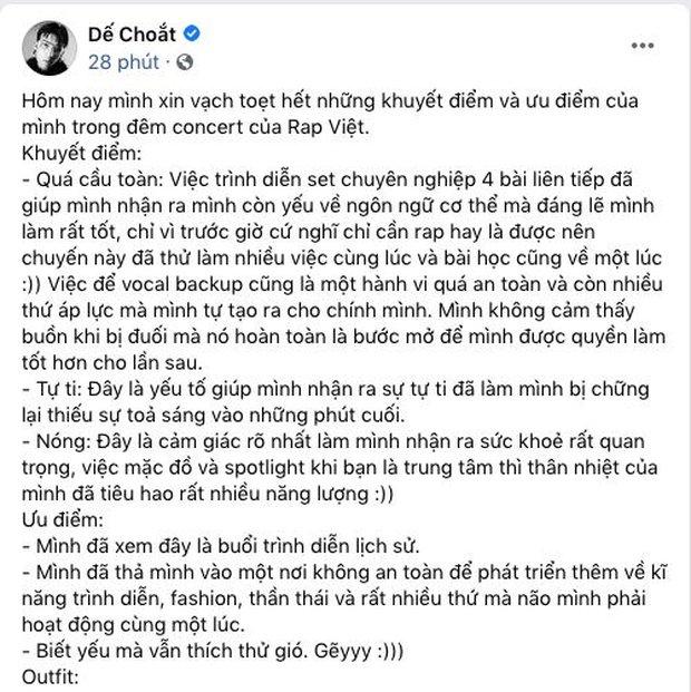 Dế Choắt bất ngờ tiết lộ điểm yếu về ngôn ngữ cơ thể và cảm giác tự ti trên sân khấu Rap Việt All-Star Concert - Ảnh 1.
