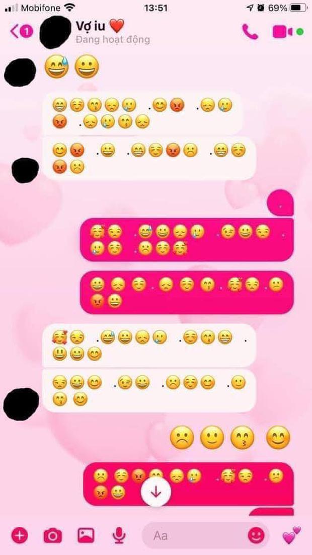 Xôn xao bài đăng tố chồng ngoại tình, mã hoá nhắn tin với Tuesday bằng ngôn ngữ biểu tượng mặt cười - Ảnh 1.