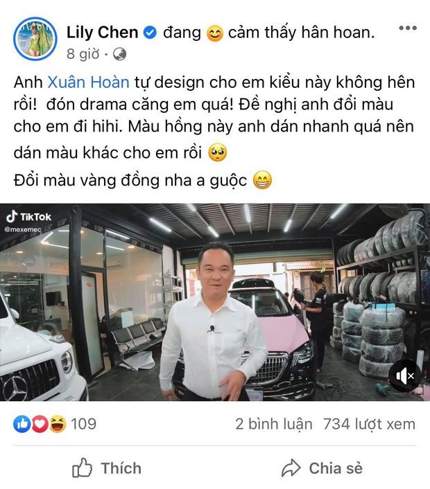 Giữa nghi vấn chung bồ tỷ phú với Ngọc Trinh, Lily Chen xử con xe 9 tỷ sao rồi? - Ảnh 1.