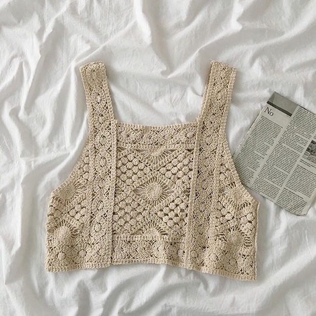 Bên Hàn rộ mốt đồ đan móc, gợi ý cho các nàng loạt áo chuẩn trend siêu xinh mà giá chỉ từ 60k - Ảnh 3.