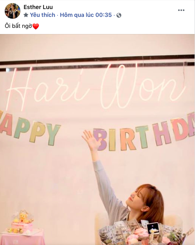 Netizen soi chi tiết lạ trên bó hoa Hari Won được tặng sinh nhật, làm rộ lên nghi vấn đang mang thai con đầu lòng? - Ảnh 1.
