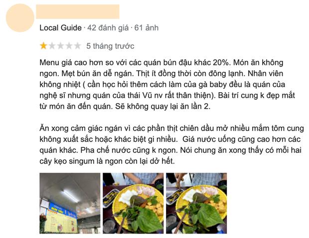 Xôn xao bài đăng tố bún đậu mắm tôm của Mạc Văn Khoa có gián, giá cao hơn 20% chỗ khác nhưng dùng thịt đông lạnh, suất ăn quá ít?  - Ảnh 5.
