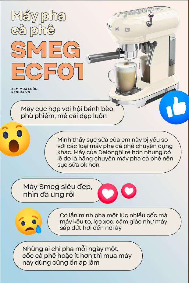 Bỏ gần 10 triệu mua máy pha cà phê Smeg: Công nhận xinh muốn xỉu nhưng dùng nhiều một tí lại thấy tội... - Ảnh 3.