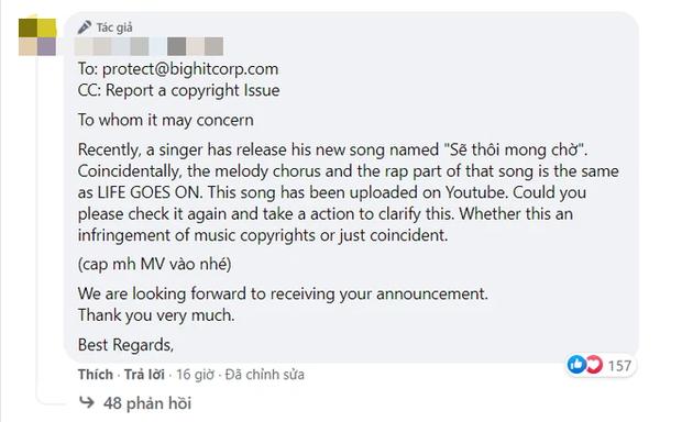 Nam ca sĩ Việt đạo nhái trắng trợn hit của BTS: Fan đồng loạt gửi mail cho Big Hit, chính chủ gỡ MV chỉ sau một đêm! - Ảnh 5.