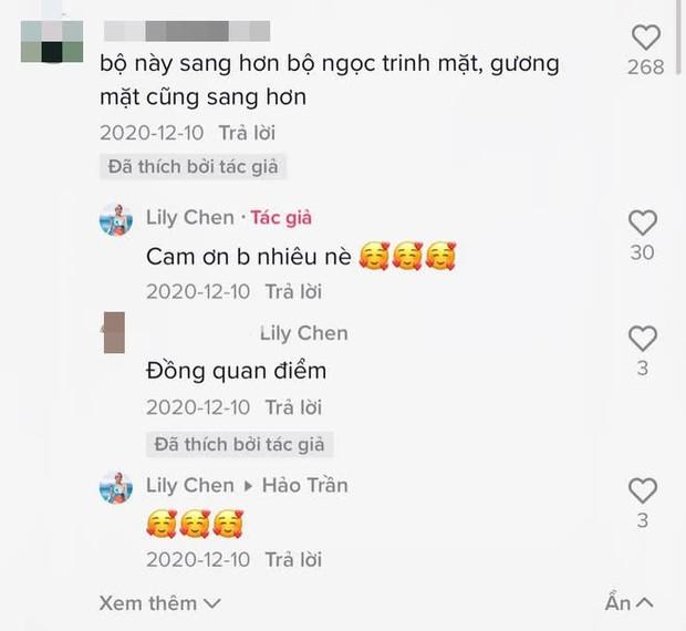 Fan khen Lily Chen sang hơn Ngọc Trinh khiến cô vui quá thả bão trái tim luôn á! - Ảnh 2.
