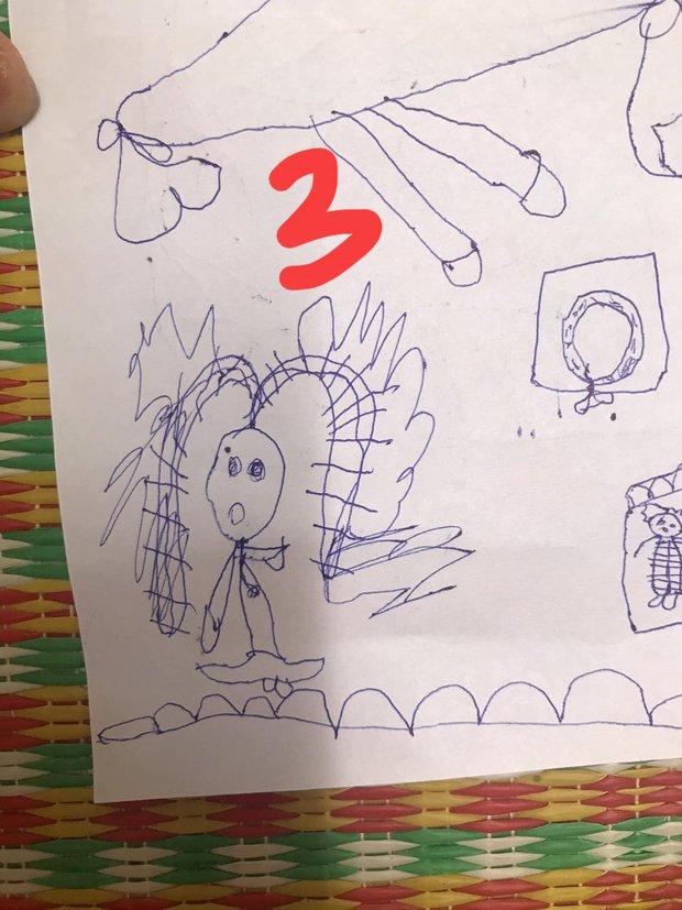 Bé gái 4 tuổi vẽ tranh tặng mẹ, thành quả fail lòi toàn tập, nghe lý giải đến mẹ cũng phải ngượng chín mặt - Ảnh 4.