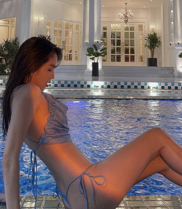 Ngọc Trinh mở hàng biệt thự của Vũ Khắc Tiệp bằng clip khoe thân cực nóng, phô diễn vòng 3 nhức mắt với bikini nhỏ xíu - Ảnh 3.