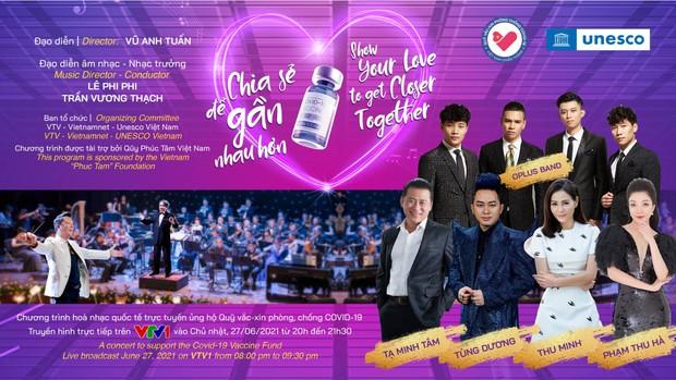 Thu Minh, Tùng Dương và dàn nghệ sĩ sẽ cùng góp mặt trong đêm hòa nhạc trực tuyến kết nối 5 châu ủng hộ Quỹ vaccine Covid-19 - Ảnh 1.