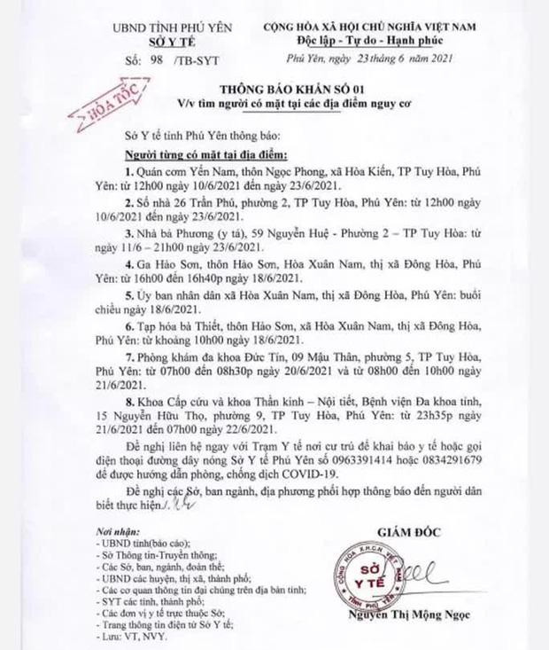 Bình Định thông báo khẩn tìm người liên quan các điểm nguy cơ ở Phú Yên - Ảnh 1.