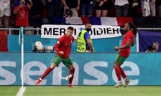 Ăn mừng bàn thắng, Ronaldo bị fan tuyển Pháp ném chai Coca-Cola vào người - Ảnh 6.