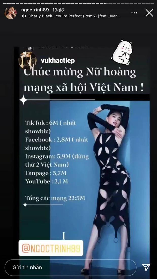 Sau liên hoàn drama, Instagram của Ngọc Trinh bất ngờ tụt follow không phanh - Ảnh 1.