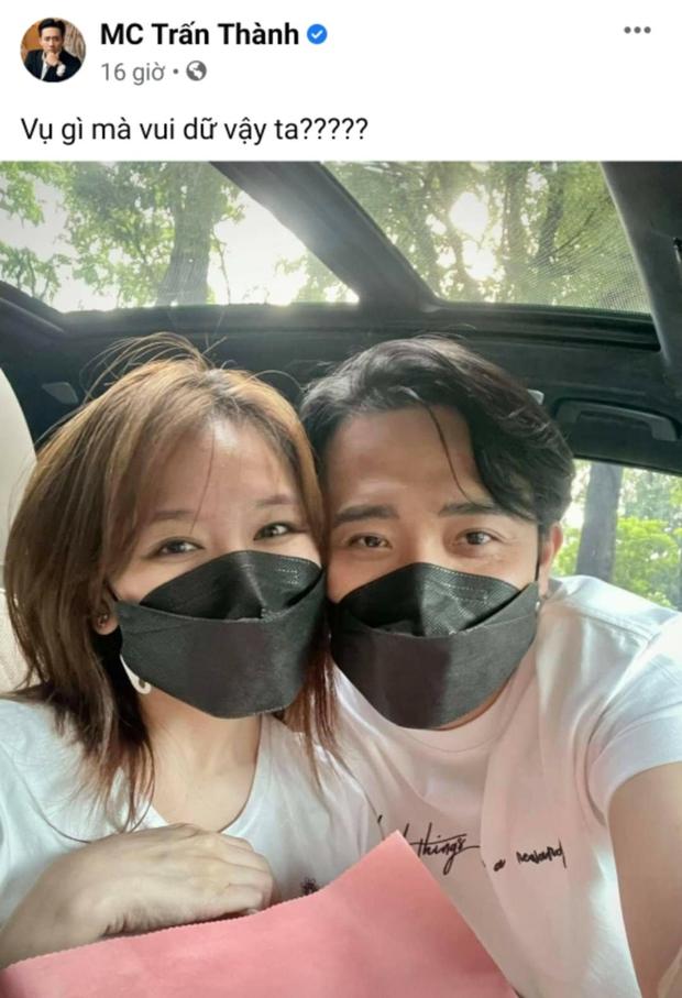 Trấn Thành ẩn ý có tin vui, Hari Won đăng status làm rõ luôn tin đồn mang thai? - Ảnh 3.