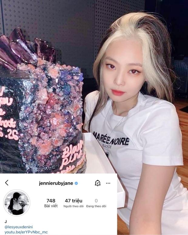 Jennie (BLACKPINK) chính thức cán mốc 47 triệu follow trên Instagram, chỉ xếp sau một người trong showbiz Hàn - Ảnh 2.