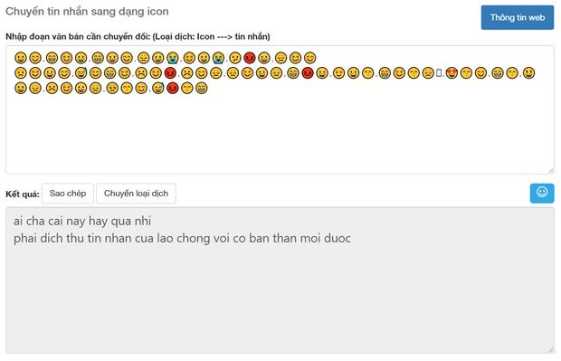 Soi tường tận công cụ dịch Emoji sang tiếng Việt, cái kết buồn cho kỷ nguyên trà xanh và những kẻ lươn lẹo - Ảnh 9.