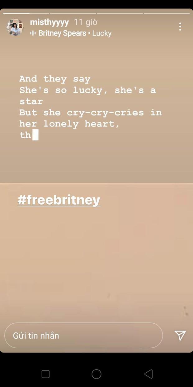 Tiếp nối nhiều nghệ sĩ, MisThy lên tiếng ủng hộ công chúa nhạc Pop Britney Spears - Ảnh 1.