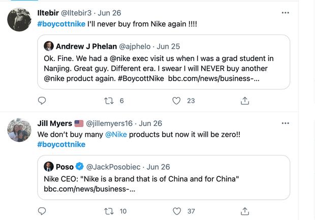 Hậu tuyên bố Là thương hiệu của Trung Quốc, Nike vấp phải làn sóng tẩy chay trên toàn cầu - Ảnh 2.