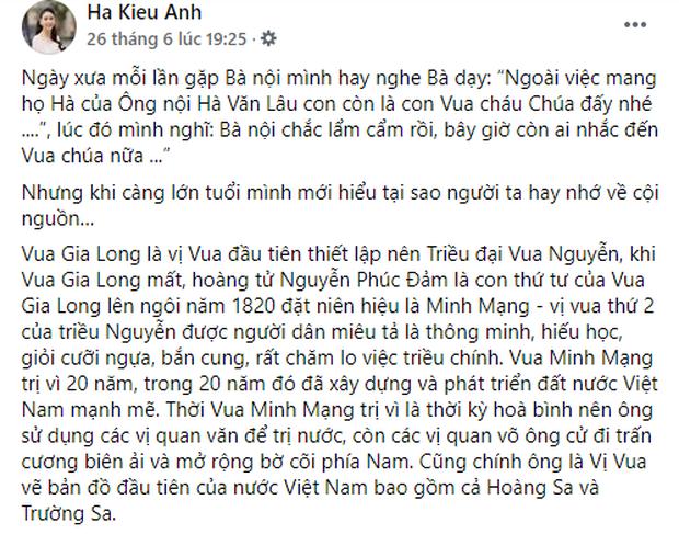 Hoa hậu Hà Kiều Anh khẳng định mình là Công chúa đời thứ 7 của triều Nguyễn, hậu duệ của Vua Minh Mạng lên tiếng phủ định! - Ảnh 2.