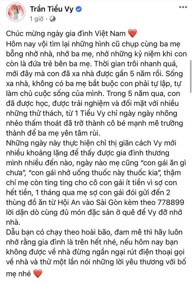 Ngập trời sao Vbiz chia sẻ nhân ngày Gia đình Việt Nam: Đoan Trang khoe hội anh em nhà người ta, H'Hen Niê - Tiểu Vy chung 1 nỗi lòng - Ảnh 4.