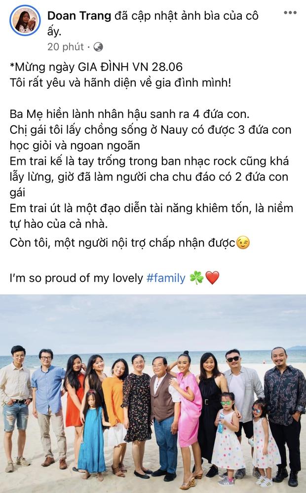 Ngập trời sao Vbiz chia sẻ nhân ngày Gia đình Việt Nam: Đoan Trang khoe hội anh em nhà người ta, H'Hen Niê - Tiểu Vy chung 1 nỗi lòng - Ảnh 6.