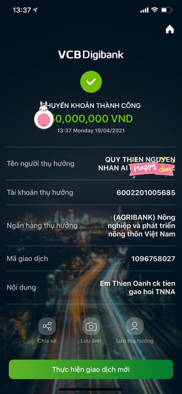 Cuối cùng đã tìm ra bằng chứng làm rõ nghi vấn Vy Oanh fake ảnh từ thiện Vaccine, số tiền cụ thể được hé lộ - Ảnh 3.