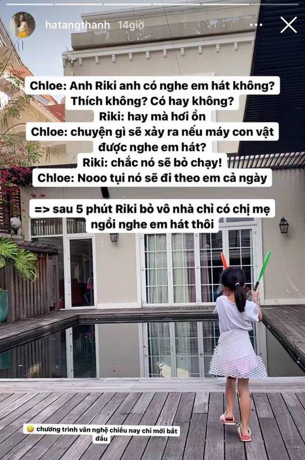 Ái nữ nhà Hà Tăng trổ tài văn nghệ cho anh trai nghe, nào ngờ bị anh phũ ra mặt và cái kết khiến netizen cười ngất - Ảnh 2.