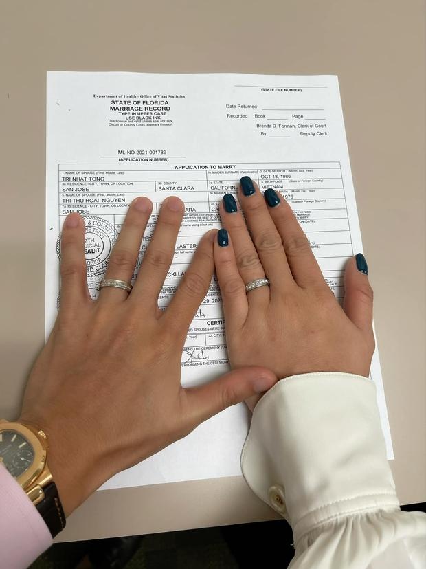 HOT: Hoa hậu Thu Hoài và bạn trai kém 10 tuổi chính thức thành vợ chồng hợp pháp, hé lộ luôn ảnh cưới cực tình! - Ảnh 5.